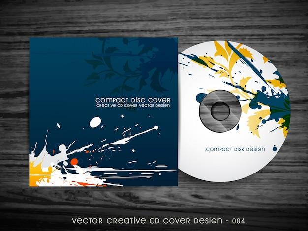 Disegno astratto di copertura del cd dello stile dello splash