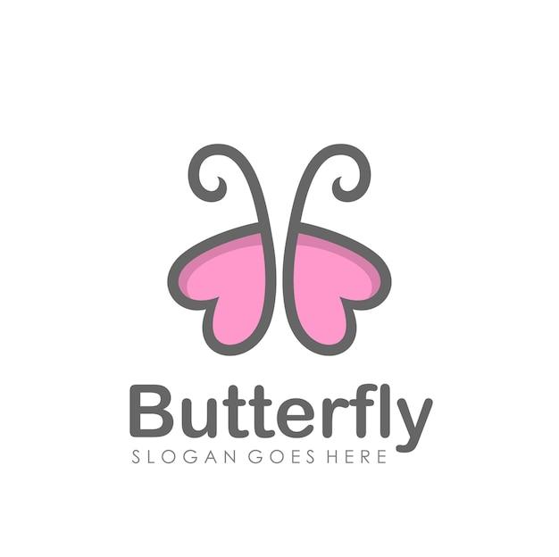 Disegno astratto di logo della farfalla