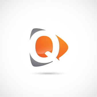 Disegno astratto di logo della lettera q