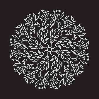 Disegno astratto di logo di colore bianco