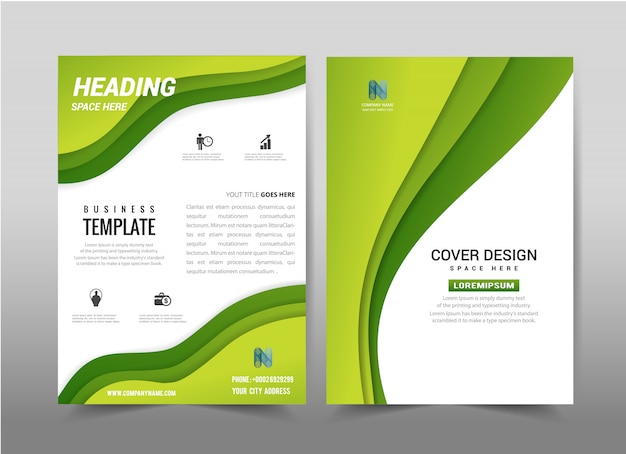 Disegno astratto di vettore brochure flyer modello di sfondo.