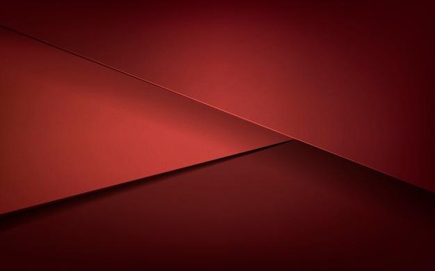 Disegno astratto in rosso scuro