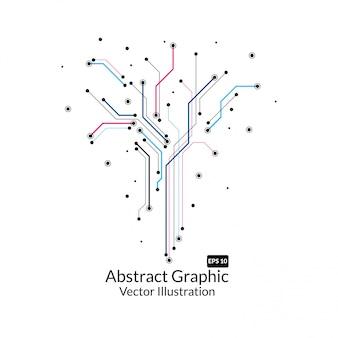 Disegno astratto logo icona di connessione fatta