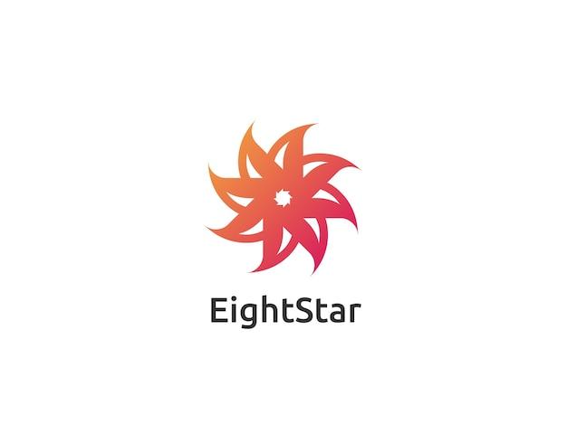 Disegno astratto logo stella cerchio