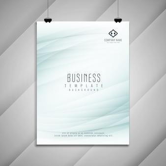 Disegno astratto modello di brochure aziendale