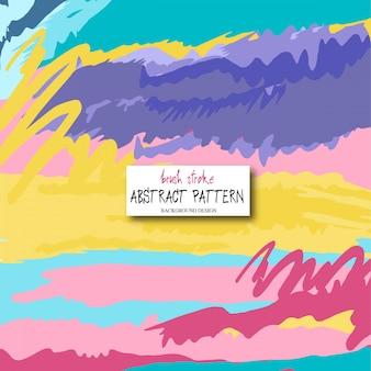 Disegno astratto. modello di tratti di pennello colorato