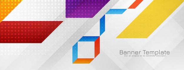 Disegno astratto moderno banner geometrico