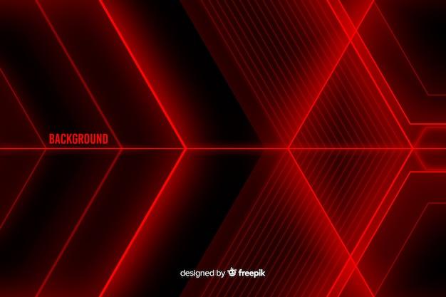 Disegno astratto per sfondo di forme di luce rossa