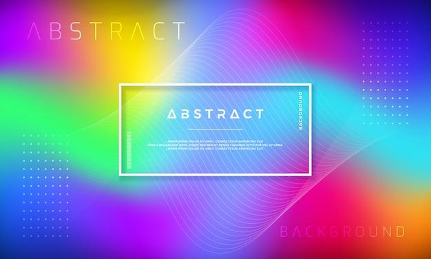 Disegno astratto sfondo dinamico con forme sfumate colorate.