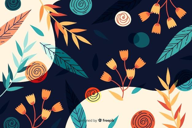 Disegno astratto sfondo floreale