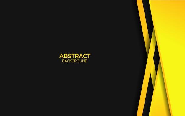 Disegno astratto sfondo giallo e nero