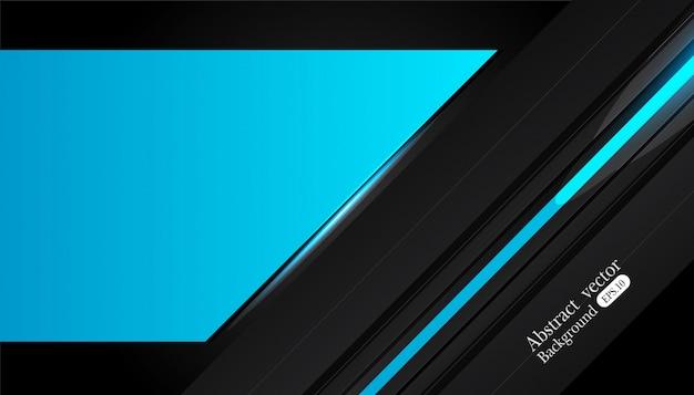 Disegno astratto telaio metallico blu nero