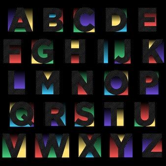 Disegno astratto tipografia nero