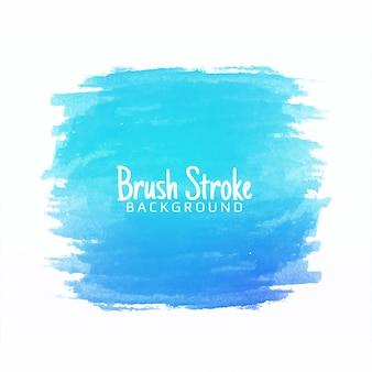 Disegno blu astratto del colpo della spazzola dell'acquerello