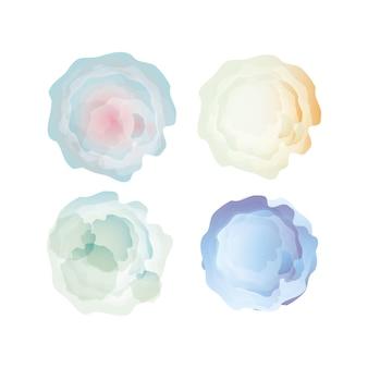 Disegno blu della decorazione della priorità bassa dell'acquerello