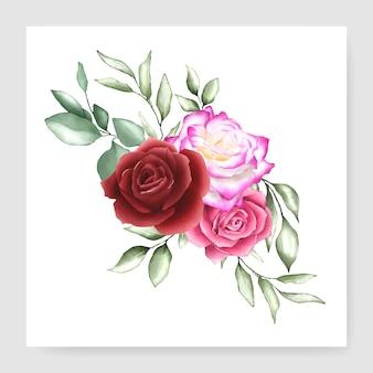 Disegno bouquet acquerello