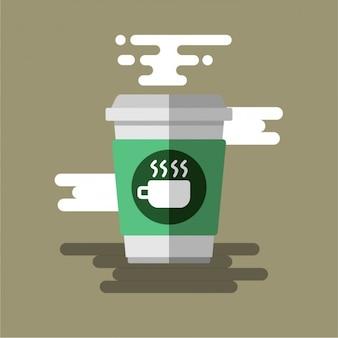 Disegno caffè piano