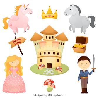Disegno caratteri fairytales