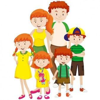 Disegno colorato famiglia