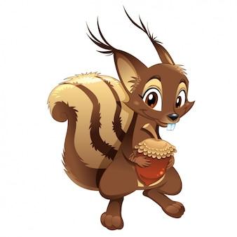 Disegno colorato scoiattolo