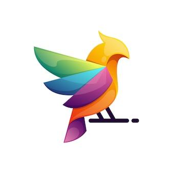 Disegno colorato uccello moderno