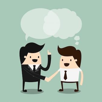 Disegno conversazione di affari