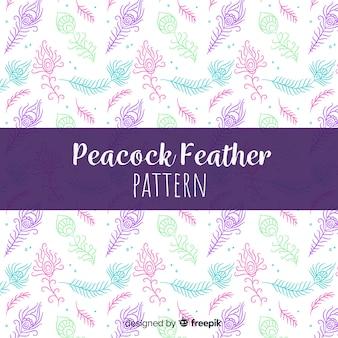 Disegno decorativo del modello della piuma del pavone