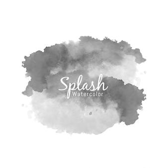 Disegno decorativo splash acquerello nero