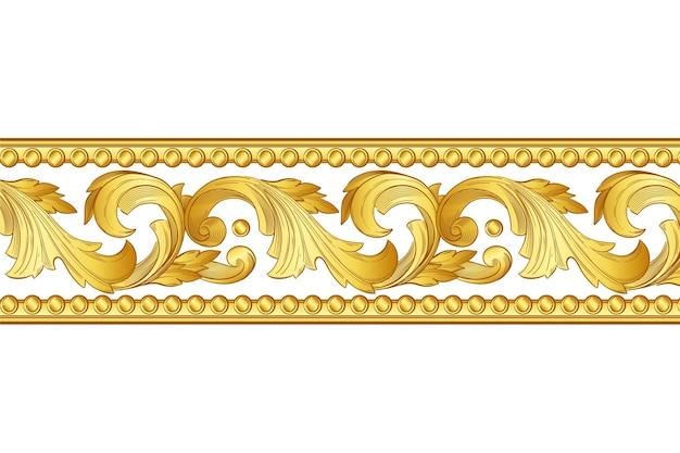 Disegno del bordo ornamentale dorato