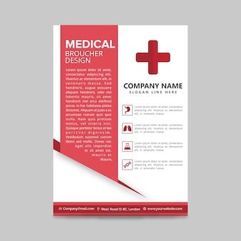 Disegno del brochure medico