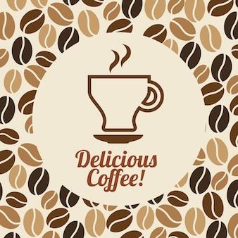Disegno del caffè su sfondo rosa illustrazione vettoriale