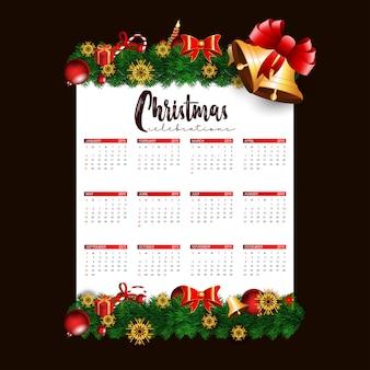 Disegno del calendario di natale 2019