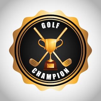 Disegno del campionato di golf
