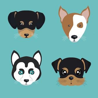 Disegno del cane carino