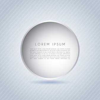 Disegno del cerchio sopra illustrazione vettoriale sfondo grigio