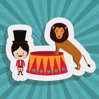 Disegno del circo