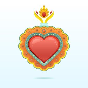 Disegno del cuore sacro