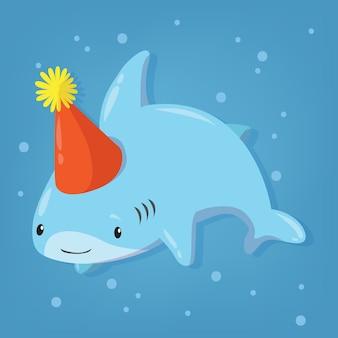 Disegno del fumetto del bambino squalo