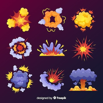 Disegno del fumetto di raccolta effetto esplosione