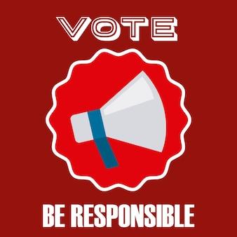 Disegno del giorno delle elezioni