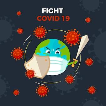 Disegno del globo coronavirus