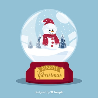Disegno del globo della palla di neve di natale