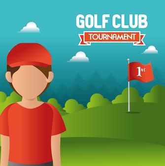 Disegno del golf club