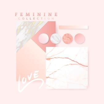 Disegno del layout rosa femminile