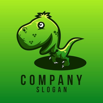 Disegno del logo del bambino t-rex