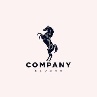 Disegno del logo del cavallo in piedi