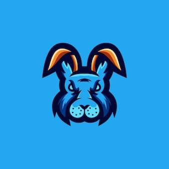 Disegno del logo del coniglio
