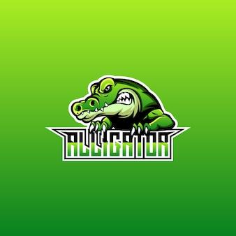 Disegno del logo dell'alligatore