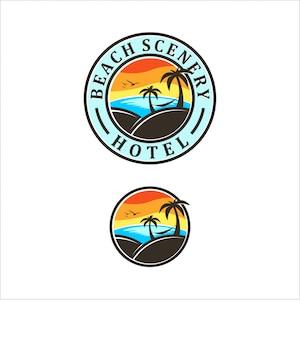 Disegno del logo della spiaggia