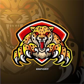 Disegno del logo di esportazione di mascotte ghepardo
